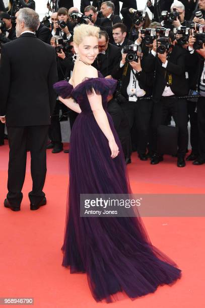 Actress Emilia Clarke attends the European Premiere of 'Solo A Star Wars Story' at Palais des Festivals on May 15 2018 in Cannes France