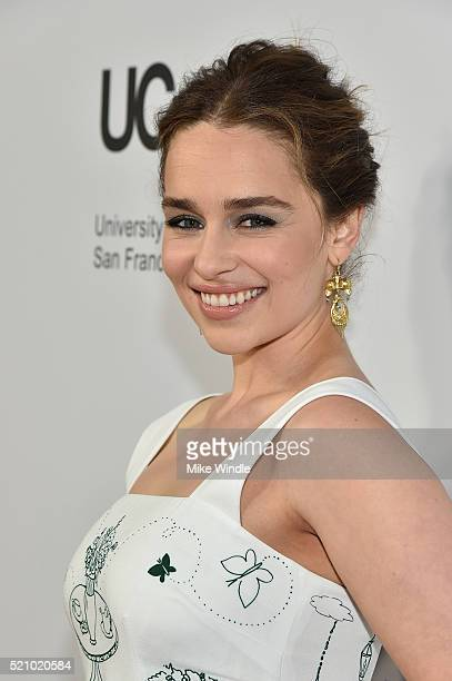 Actress Emilia Clarke attends the launch of the Parker Institute for Cancer Immunotherapy an unprecedented collaboration between the country's...
