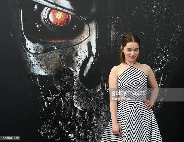 Actress Emilia Clarke attends the LA Premiere of Paramount Pictures' 'Terminator Genisys' at the Dolby Theatre on June 28 2015 in Hollywood California