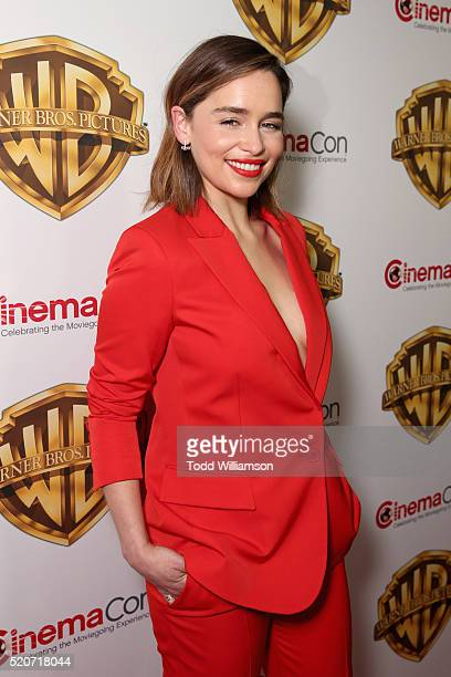 """Actress Emilia Clarke of 'Me Before You' attends CinemaCon 2016 Warner Bros Pictures Invites You to """"The Big Picture"""" an Exclusive Presentation..."""