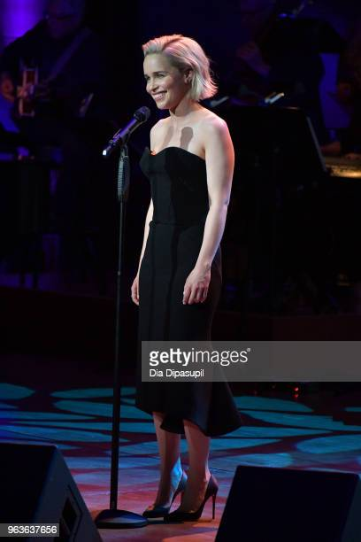 Actress Emilia Clarke performs onstage during Lincoln Center's American Songbook Gala at Alice Tully Hall on May 29 2018 in New York City