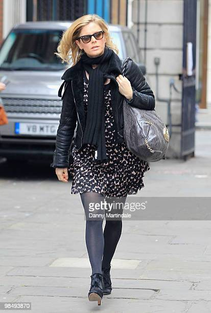 Actress Emilia Fox attends the funeral of Christopher Cazenove held at St Paul's Church in Covent Garden on April 16 2010 in London England