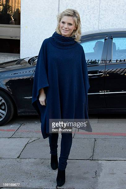 Actress Emilia Fox sighted departing ITV Studios on January 9 2013 in London England