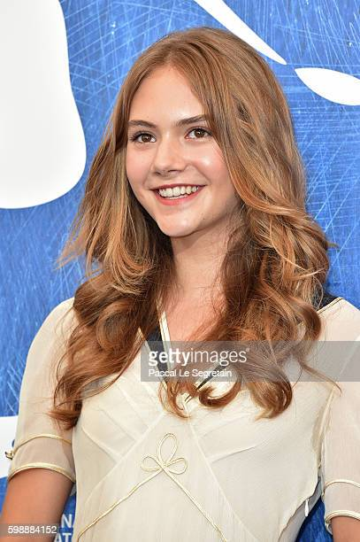 Actress Emilia Jones attends the photocall of 'Brimstone' during the 73rd Venice Film Festival at Palazzo del Casino on September 3 2016 in Venice...