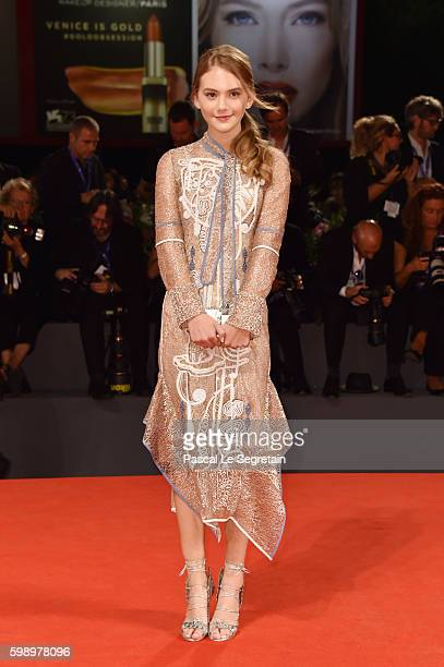 Actress Emilia Jones attends the premiere of 'Brimstone' during the 73rd Venice Film Festival at Sala Grande on September 3 2016 in Venice Italy