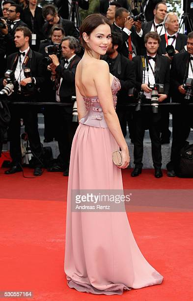Actress Emilia Schuele attends the 'Cafe Society' premiere and the Opening Night Gala during the 69th annual Cannes Film Festival at the Palais des...