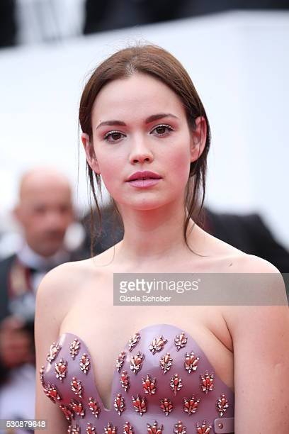Actress Emilia Schuele attends the Cafe Society premiere and the Opening Night Gala during the 69th annual Cannes Film Festival at the Palais des...