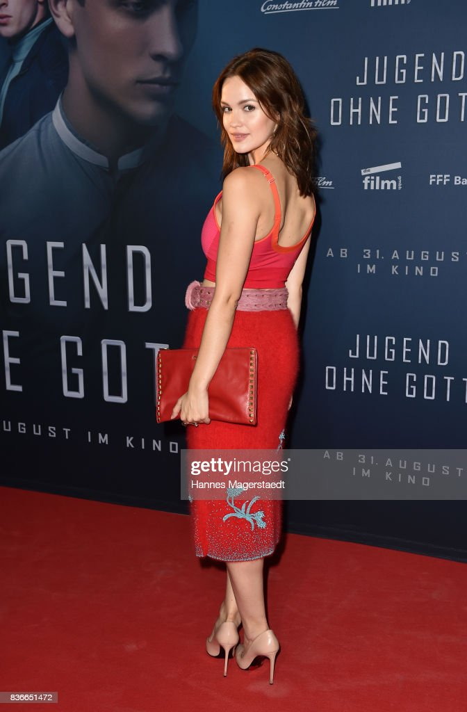 Actress Emilia Schuele during the 'Jugend ohne Gott' premiere at Mathaeser Filmpalast on August 21, 2017 in Munich, Germany.