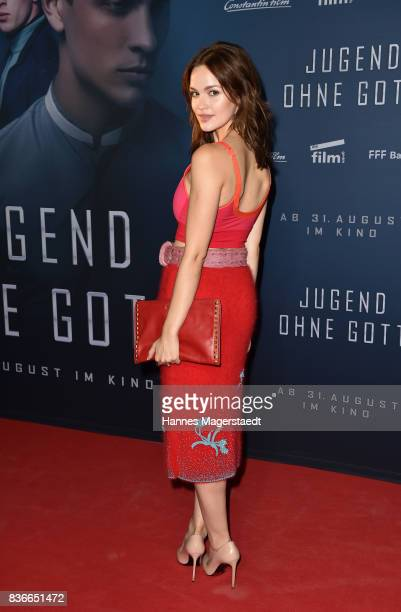 Actress Emilia Schuele during the 'Jugend ohne Gott' premiere at Mathaeser Filmpalast on August 21 2017 in Munich Germany