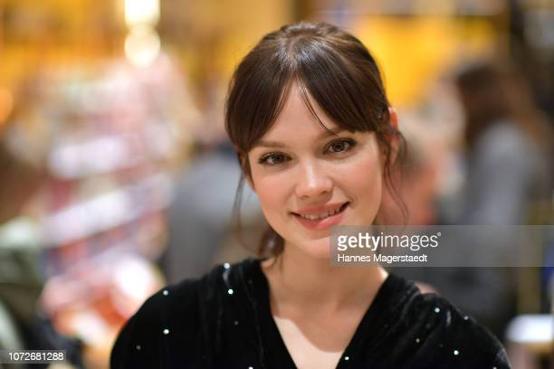 Actress Emilia Schuele during the L'Occitane En Provence christmas store event on December 13, 2018 in Munich, Germany.