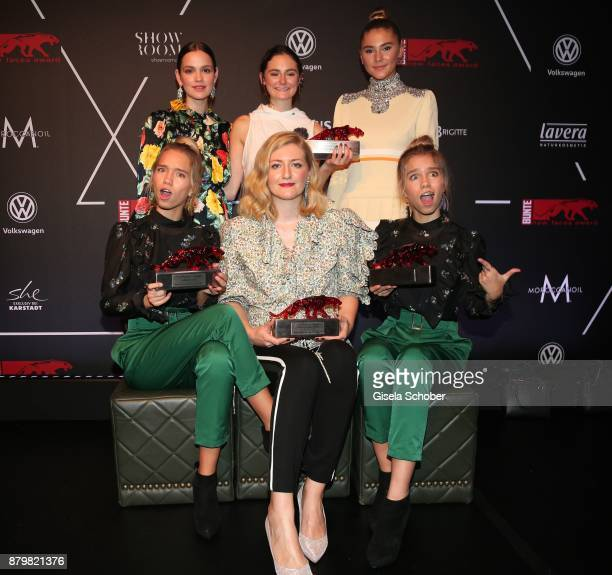 Actress Emilia Schuele Lea van Acken Style Icon of the year Lisa and Lena Influencer of the year and Fashion designer Anna Heinrichs of Horror Vacui...