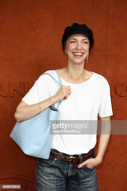 Actress Emilie Caen attends the 2018 French Open Day Eight at Roland Garros on June 3 2018 in Paris France