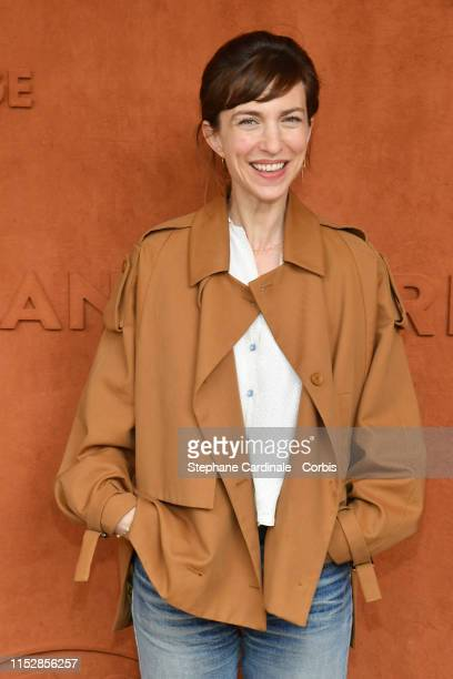 Actress Emilie Caen attends the 2019 French Tennis Open - Day Six at Roland Garros on May 31, 2019 in Paris, France.