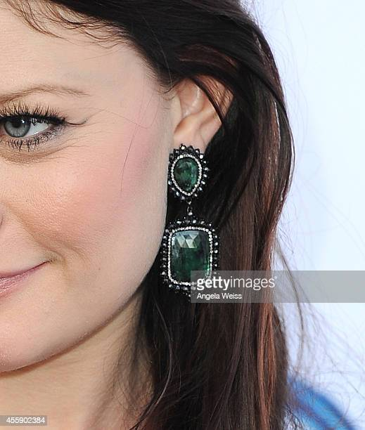 """Actress Emilie de Ravin ) attends ABC's """"Once Upon A Time"""" Season 4 red carpet premiere at the El Capitan Theatre on September 21, 2014 in Hollywood,..."""