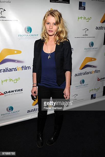 Actress Emilie de Ravin poses at the Australians In Film Screening Of Summit Entertainment's 'Remember Me'at the Harmony Gold Theater on March 13...