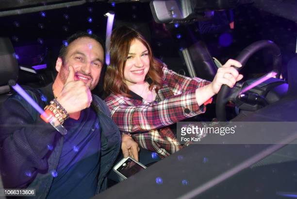 Actress Emilie Dequenne and her husband actor Michel Ferracci attend 'Range Rover Evoque' Unveilling party at Le Faust on November 28 2018 in Paris...