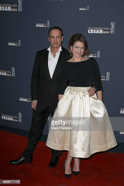 Actress Emilie Dequenne and husband Michel Ferracci attend the 'CESARS' Film awards at Theatre du Chatelet on February 20, 2015 in Paris, France.