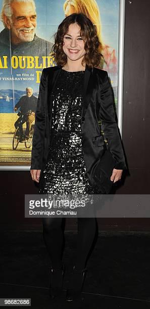 Actress Emilie Dequenne attends the 'J'ai Oublie de te Dire' premiere at Le Cinema des Cineastes on April 26, 2010 in Paris, France.