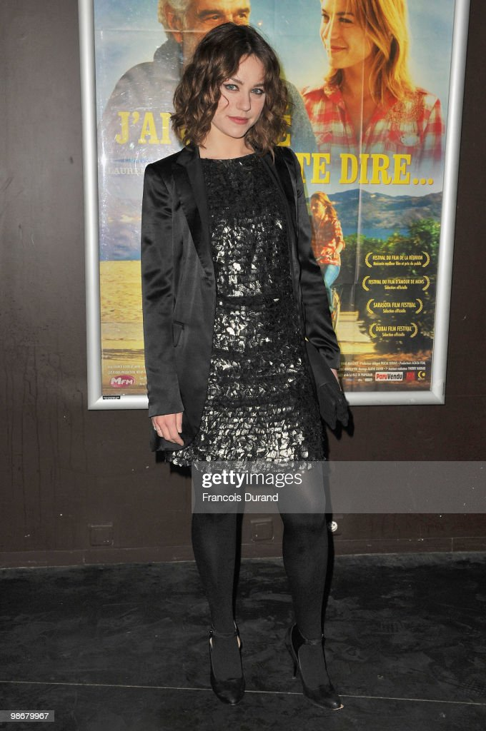 Actress Emilie Dequenne attends the premiere for 'J'ai Oublie de te Dire' at Le Cinema des Cineastes on April 26, 2010 in Paris, France.