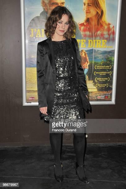 Actress Emilie Dequenne attends the premiere for 'J'ai Oublie de te Dire' at Le Cinema des Cineastes on April 26, 2010 in Paris, France.