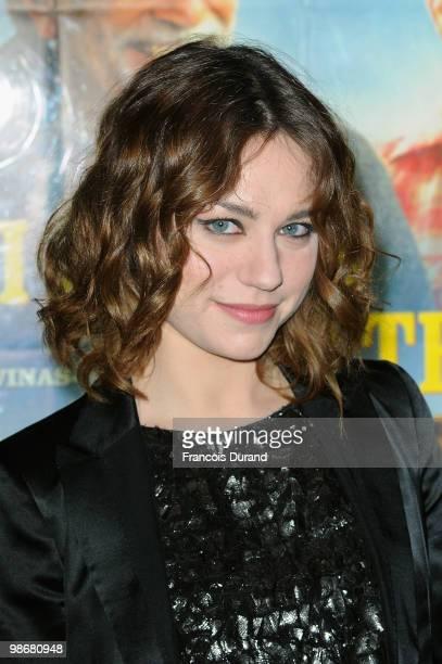 Actress Emilie Dequenne attends the premiere for 'J'ai Oublie de te Dire' at Le Cinema des Cineastes on April 26 2010 in Paris France
