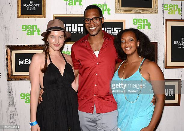Actress Emilie Miller director Jamal Caesar and Kiara Jones attends the 17th Annual GenArt Film Festival Premiere of The Silent Thief at School of...