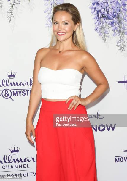 Actress Emilie Ullerup attends the 2018 Hallmark Channel Summer TCA at Private Residence on July 26 2018 in Beverly Hills California