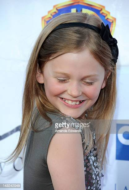 Actress Emily Alyn Lind arrives at the Band From TV's 2nd Annual Block Party On Wisteria Lane at Universal Studios Backlot on April 21 2012 in...