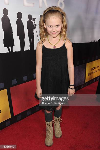 Actress Emily Alyn Lind arrives to Paramount Pictures' Super 8 Bluray and DVD release party at AMPAS Samuel Goldwyn Theater on November 22 2011 in...