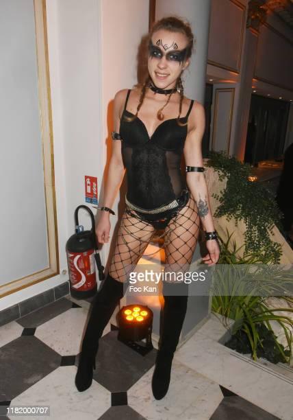 Actress Emily Angel attends the Bal Masque de Monsieur D At Pavillon d'Armenonville on October 18 2019 in Paris France