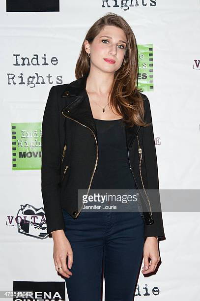 Actress Emily Arlook arrives at the premiere of Indie Rights' Miles To Go at the Arena Cinema Hollywood on May 15 2015 in Hollywood California