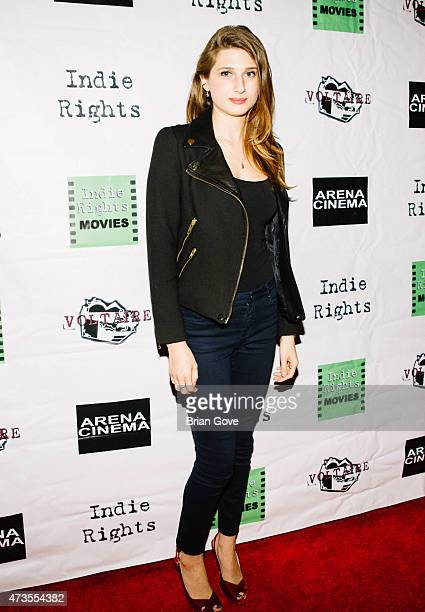 Actress Emily Arlook arrives at the premiere of Indie Rights' 'Miles To Go' at Arena Cinema Hollywood on May 15 2015 in Hollywood California