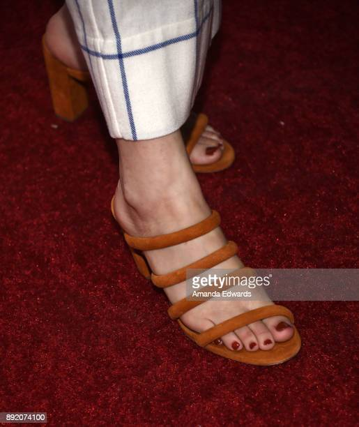 Actress Emily Arlook shoe detail arrives at the premiere of ABC's Grownish on December 13 2017 in Hollywood California