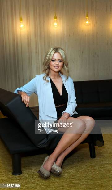 Actress Emily Atack at the launch of Kate Robbins new album 'Soho Nights' at BBC Club on March 20 2012 in London England