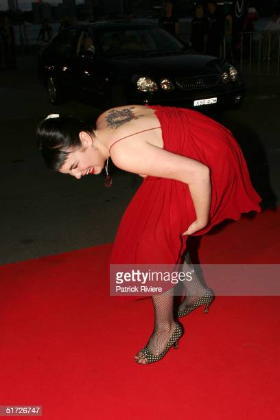 Actress Emily Barclay attends the 6th annual 'Lexus If Awards' at Luna Park November10 2004 in Sydney Australia