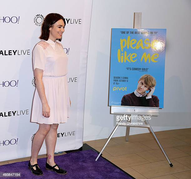 Actress Emily Barclay attends the screening of 'Please Like Me' at The Paley Center for Media on October 22 2015 in Beverly Hills California