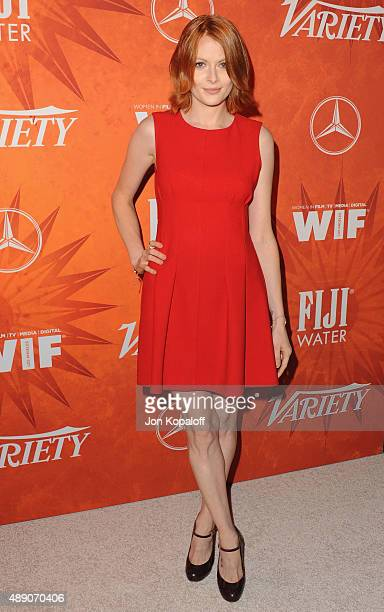 Actress Emily Beecham arrives at the Variety And Women In Film Annual PreEmmy Celebration at Gracias Madre on September 18 2015 in West Hollywood...