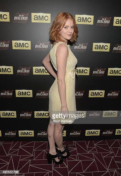 Actress Emily Beecham attends a screening of AMC's 'Into The Badlands' at The London West Hollywood on October 13 2015 in West Hollywood California