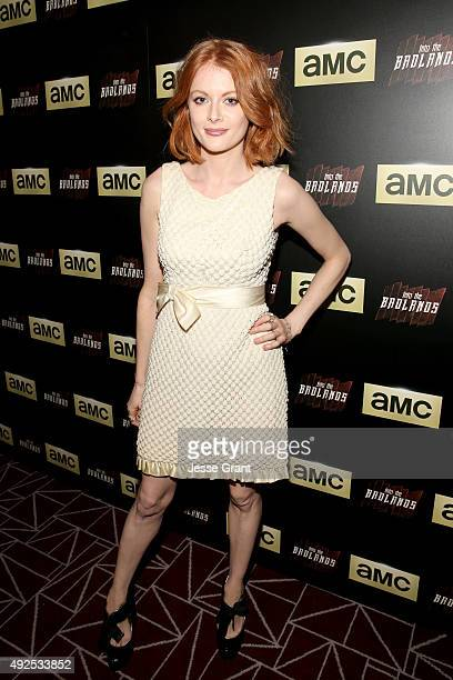 Actress Emily Beecham attends AMC's 'Into The Badlands' Premiere on October 13 2015 in West Hollywood California