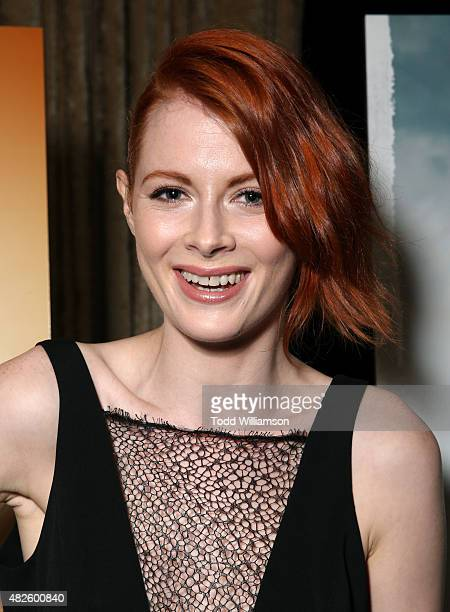 Actress Emily Beecham attends the AMC TCA panel at The Beverly Hilton Hotel on July 31 2015 in Beverly Hills California