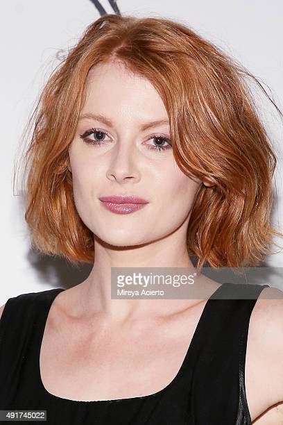 Actress Emily Beecham attends the NYLON It Girl Prom at Gilded Lily on October 7 2015 in New York City