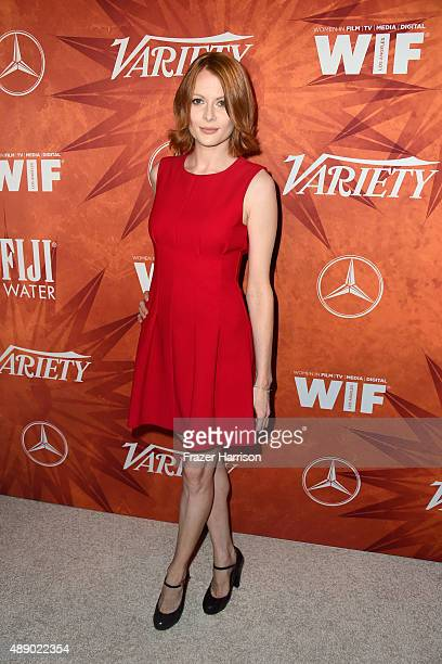 Actress Emily Beecham attends the Variety and Women in Film Annual PreEmmy Celebration at Gracias Madre on September 18 2015 in West Hollywood...