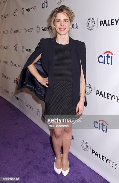 Actress Emily Bett Rickards attends The Paley Center For Media's 32nd Annual PALEYFEST LA 'Arrow' And 'The Flash' at Dolby Theatre on March 14 2015...