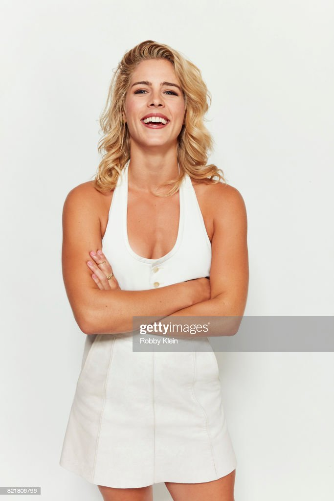 Actress Emily Bett Rickards from CW's 'Arrow' poses for a portrait during Comic-Con 2017 at Hard Rock Hotel San Diego on July 22, 2017 in San Diego, California