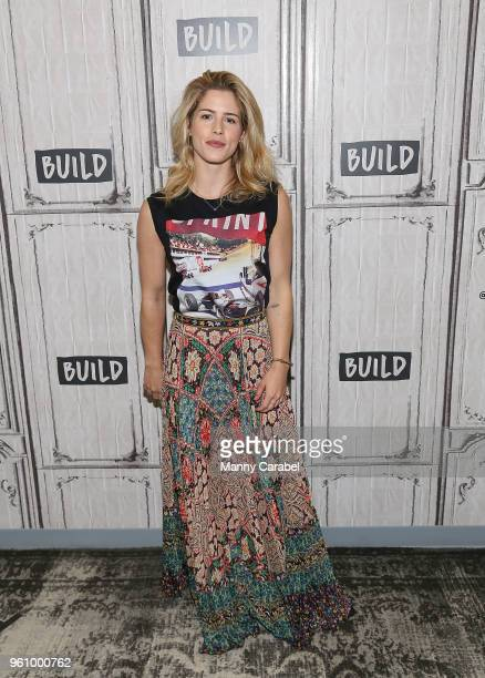 Actress Emily Bett Rickards visits Build Series to discuss her role on the television series 'Arrow' at Build Studio on May 21 2018 in New York City