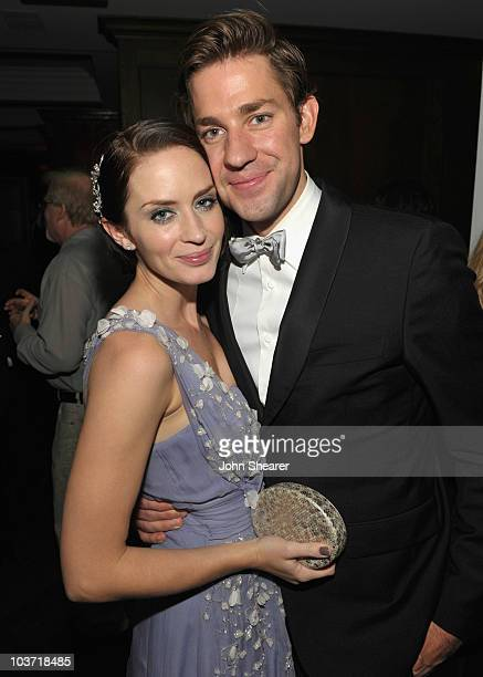 Actress Emily Blunt and actor John Krasinski attend the AMC After Party for the 62nd Annual EMMY Awards at Soho House on August 29, 2010 in West...
