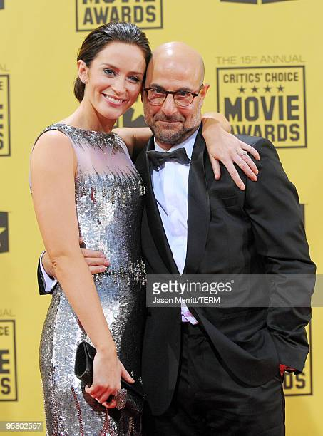 Actress Emily Blunt and actor Stanley Tucci arrive at the 15th annual Critics' Choice Movie Awards held at the Hollywood Palladium on January 15,...