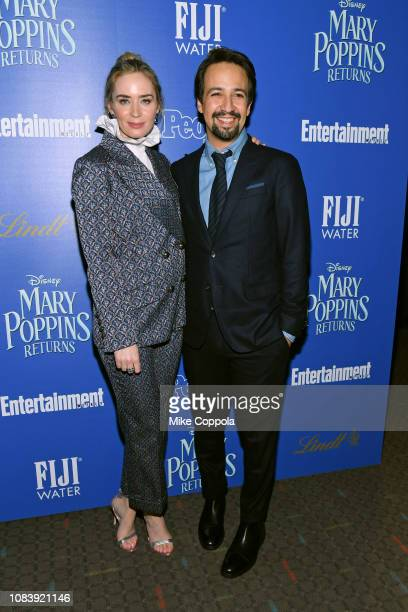 YORK DECEMBER Actress Emily Blunt and actor/playwright LinManuel Miranda attend the Mary Poppins Returns hosted by The Cinema Society at SVA Theater...