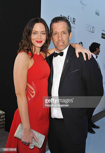 Actress Emily Blunt and amfAR Chairman Kenneth Cole arrives at amfAR's Cinema Against AIDS 2010 benefit gala at the Hotel du Cap on May 20 2010 in...