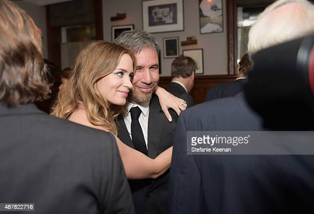 Actress Emily Blunt and director Denis Villeneuve attend the Sicario TIFF party hosted by GREY GOOSE Vodka and Soho Toronto at Soho House Toronto on...